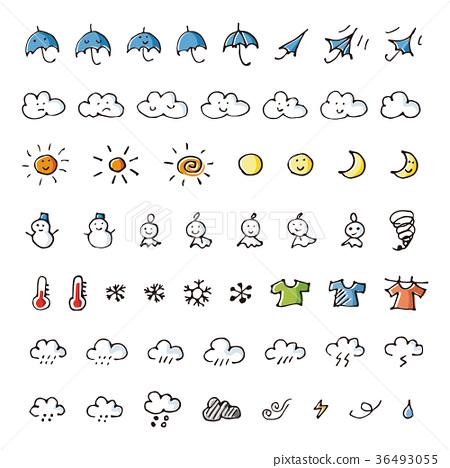 天氣 手寫 天氣預報 36493055