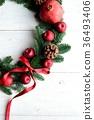 石榴和蘋果聖誕節花圈 36493406