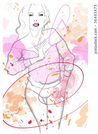 pretty woman wearing lingerie 36493473