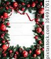 크리스마스, 사과, 프레임 36493761