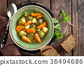 Vegetable soup with brussel sprouts 36494686