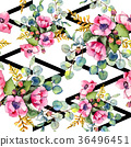 Wildflower bouquet pattern in a watercolor style. 36496451