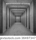 Concrete columns passage background 36497347