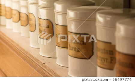 Bottles filled with chemicals 36497774