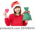 여성, 여자, 크리스마스 선물 36498044