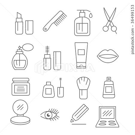 Cosmetics Line Icons 36499153