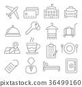 Hotel Line Icons 36499160