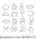 restaurant line icon 36499172