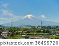 Fuji mountain with blue sky. 36499720