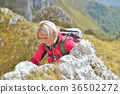happy senior female hiker enjoying outdoor 36502272