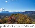 从Koyodai天文台的秋天Aokigahara Jukai和Honjo湖 36502545