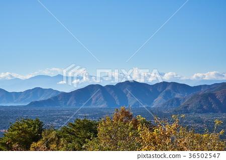 从Koyodai天文台的秋天Aokigahara Jukai和Honjo湖 36502547