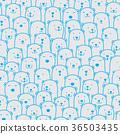 熊 北極熊 無縫模式 36503435