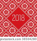 Traditional scandinavian pattern. Nordic ethnic 36504280