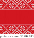 Traditional scandinavian pattern. Nordic ethnic 36504283