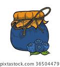 blueberry jam jar 36504479