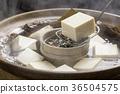 煮豆腐 锅里煮好的食物 用锅烹饪 36504575