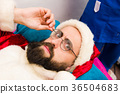 Santa Claus in beauty spa. 36504683