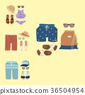 Beachwear bikini vector cloth fashion looks beach 36504954