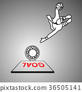 businessman dunking the red goal vector 36505141