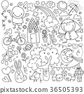 Collection of cute children's drawings of kids,  36505393