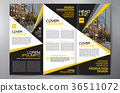 Brochure 3 fold flyer design a4 template. 36511072