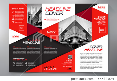 Brochure 3 fold flyer design a4 template  - Stock