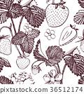 strawberry, vector, pattern 36512174