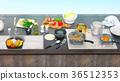 utensils, table, kitchen 36512353
