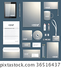Blank set of vector corporate identity template 36516437