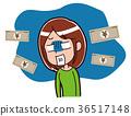困惑与金钱妇女的例证 36517148