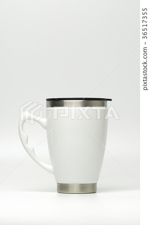 Thermos bottle on white background with copy space 36517355