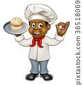 baker,black,cartoon 36518069