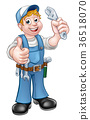 mechanic plumber cartoon 36518070