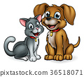 Cat and Dog Pets  Cartoon Characters 36518071