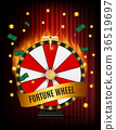 Wheel of Fortune, Lucky Icon with Place for Text 36519697