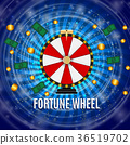 Wheel of Fortune, Lucky Icon with Place for Text 36519702