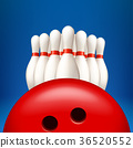 bowling pind with ball 36520552