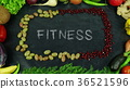 Fitness fruit stop motion 36521596