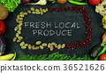Fresh local produce fruit stop motion 36521626