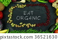 Eat organic fruit stop motion 36521630