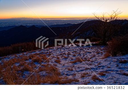 탄자 · 蛭ヶ岳에서 보는 새벽 관동 평야 36521832