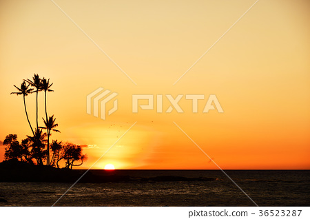 big island, sunset, ocean 36523287