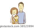 육아 젊은 부부 아기 36523994