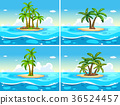 Four scenes with island in the sea 36524457
