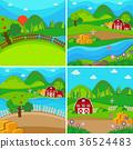 場景 農場 穀倉 36524483