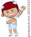 Little boy taking shower 36525342