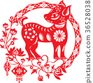 Chinese year of Lucky dog illustration 36528038