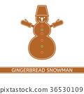 Gingerbread Christmas Snowman 36530109