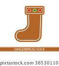 Gingerbread Christmas Sock 36530110